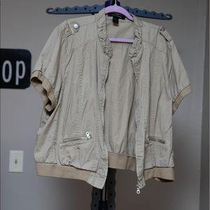 Ashley Stewart Short Sleeve Jacket Sz 24